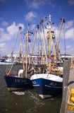 Fishing boat. Dutch fishing boat in the harbour of Esbjerg, Denmark Royalty Free Stock Photos
