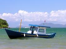 Fishing boat. Ribeira beach - Angra dos Reis - Rio de Janeiro stock images