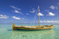 Fishing boat. Color picture of classic old fashioned small fishing boat royalty free stock image
