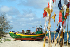 Fishing boat. Photo of old fishing boat (Baltic Sea Stock Photo