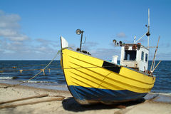 Fishing boat. Photo of old fishing boat (Baltic Sea Royalty Free Stock Image
