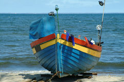 Fishing boat. Photo of old fishing boat (Baltic Sea Royalty Free Stock Photography