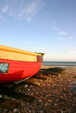 Fishing boat. On Worthing beach, West Sussex, UK Royalty Free Stock Photos