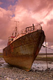 Fishing boat. Old fishing boat in Rumpside Royalty Free Stock Photos