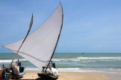 Fishing boat. Sail fishing boats at beach redy to go Royalty Free Stock Photos