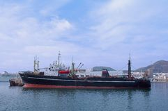 Fishing boat. In dock in Las Palmas isles Canaries, Spain Stock Photography