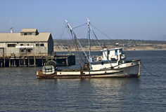 Fishing Boat. This is a picture of a purse seiner fishing boat on the Monterey Bay Stock Photo
