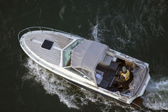 Fishing boat from above Stock Images