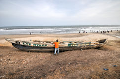 Fishing Boat - Accra, Ghana Royalty Free Stock Photography