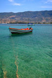 Fishing boat in the Aegean sea. Poros, Greece Royalty Free Stock Photo