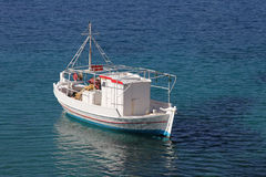Fishing boat in the Aegean Sea Stock Photos