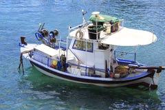 Fishing Boat in the Aegean Sea Royalty Free Stock Photos