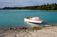 Fishing boat in Aitutaki Lagoon Cook Islands Royalty Free Stock Photo
