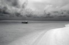 Fishing boat in Aitutaki Lagoon Cook Islands Royalty Free Stock Photo