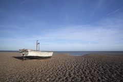Fishing Boat on Aldeburgh Beach, Suffolk, England Stock Photography