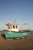 Fishing Boat on Aldeburgh Beach, Suffolk, England Royalty Free Stock Photos