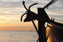 Fishing boat anchor Royalty Free Stock Photos
