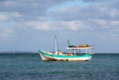 Fishing boat anchored in Cancun's Puerto Juarez Harbor on Mexico's Caribbean coast Royalty Free Stock Image