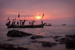 Free Fishing Boat And Fishermen In Senya Beraku, Ghana Royalty Free Stock Photography - 115240167