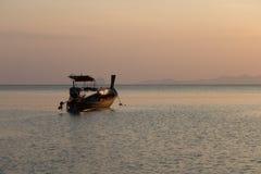 Fishing Boat in andaman sea at Pakmeng Beach Stock Image