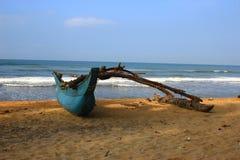 Fishing boat ashore the Indian ocean Stock Image