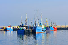 Fishing boat on the Baltic beach Royalty Free Stock Image