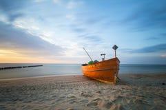 Fishing boat on the Baltic coast Royalty Free Stock Photo