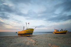 Fishing boat on the Baltic coast Royalty Free Stock Images