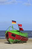 Fishing boat at the Baltic Sea Stock Photos