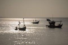 THAILAND CHONBURI BANGSAEN FISHINGBOAT COAST. Fishing boat at the Bang Saen Beach at the Town of Bangsaen in the Provinz Chonburi in Thailand.  Thailand Stock Photos