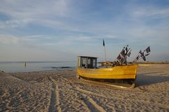 Fishing boat on bank Royalty Free Stock Photos