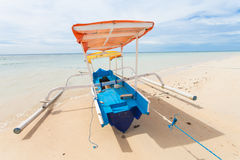 Fishing boat. In bay on Gili Air island of Bali, Indonesia royalty free stock image