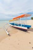 Fishing boat. In bay on Gili Air island of Bali, Indonesia royalty free stock photo
