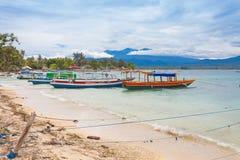 Fishing boat. In bay on Gili Air island of Bali, Indonesia stock photography