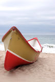 Fishing boat on the beach royalty free stock image