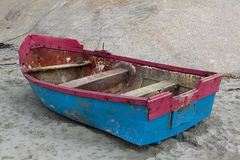 Fishing boat on beach Stock Photography