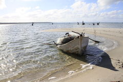 Fishing boat on beach Stock Image