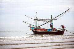 Fishing Boat on Beach Royalty Free Stock Photography