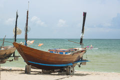 Fishing boat. On the beach Royalty Free Stock Image