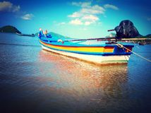 Fishing boat. On the beach Royalty Free Stock Photos