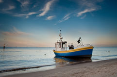 Fishing boat on the beach, baltic sea Royalty Free Stock Photo