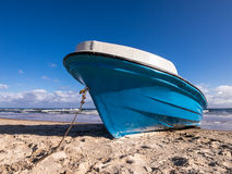 Fishing boat on the beach of Bansin Royalty Free Stock Images