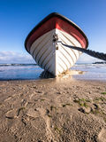 Fishing boat on the beach of Bansin Royalty Free Stock Photo