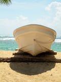 Fishing boat beach corn island nicaragua Stock Photography