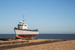 Fishing boat on the beach in Deal Royalty Free Stock Photography