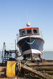 Fishing boat on the beach in Deal, Kent, UK Stock Photo