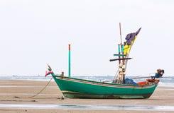 Fishing boat on the beach Stock Photos