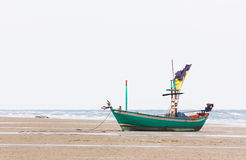Fishing boat on the beach Royalty Free Stock Photo
