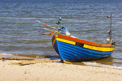 Fishing boat on the beach. Stock Image
