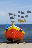 Fishing boat on the beach. Royalty Free Stock Image